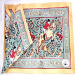 Place Mat and Napkin Set with Whimsical Hunt Scene