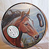 Mountain Horse Round Cutting Board