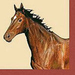 Bay Horse Dinner Size Paper Napkins - EquineGiftBoutique