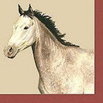 Grey Horse Cocktail Napkins - EquineGiftBoutique