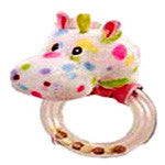 Pastel Horse Head Rattle - EquineGiftBoutique