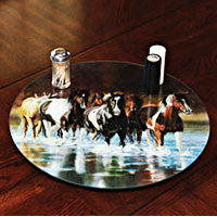 Rush Hour Glass Lazy Susan 15""