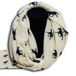 Running horse knit scarf - EquineGiftBoutique