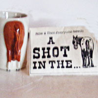 A Shot in the A... Porcelain Shot Glass