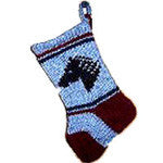 All wool Mini Christmas Stocking - EquineGiftBoutique