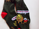 "Thelwell Socks Green""Get off my Foot"""