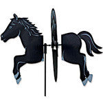 Garden Spinner -  Small Black Horse - EquineGiftBoutique