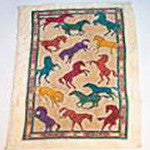 Kitchen Towel with a Colorful Horse Stamede