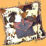 Western Square Pocket Pillow with Lil' Nugget Horse - EquineGiftBoutique