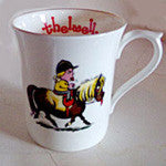 "Bone China Thelwell Mugs in 6 Patterns. '""tongue out"""