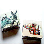 Tin Treasure Box by artist Janet Griffin -Scott - EquineGiftBoutique