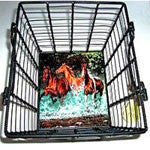 Wire Basket with Tile Bottom - EquineGiftBoutique