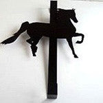 Over the Door Large Wreath Hanger  choose from 3 Images - EquineGiftBoutique
