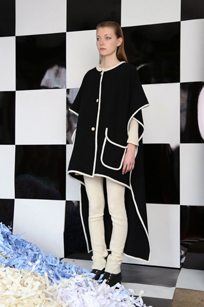 Grid Cape Coat
