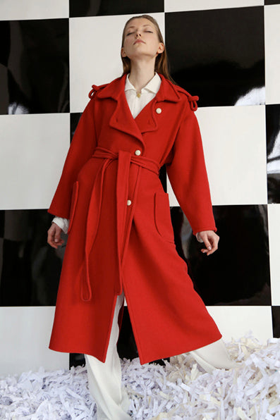 Topographic Trench Coat