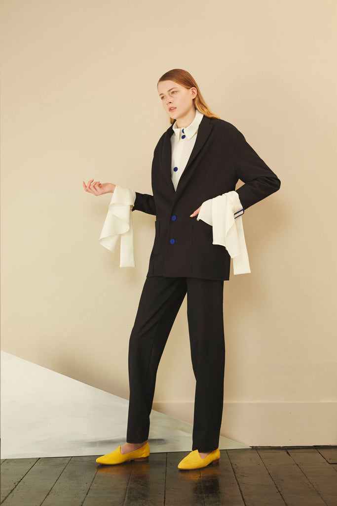 Flat Front Ogee Trousers