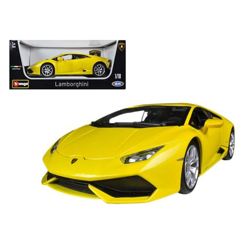 Lamborghini Huracan LP610-4 Yellow 1/18 Diecast Car Model by Bburago