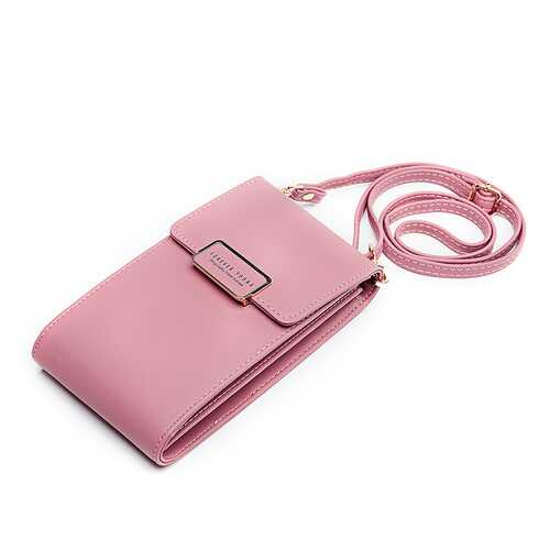 Women Large Capacity PU Leather Zipper Card Slot Messenger Bag Crossbody Bag Wallet for Mobile Phone
