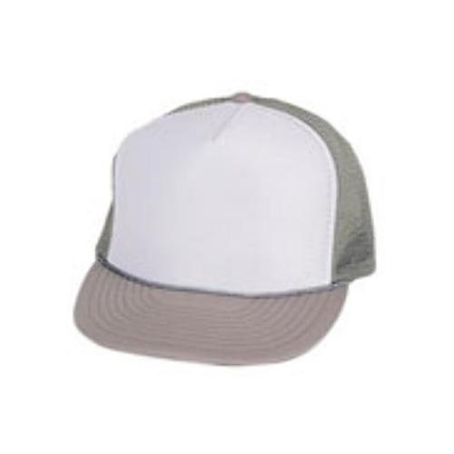 Case of [144] Polyester Summer Mesh Cap - Gray/White