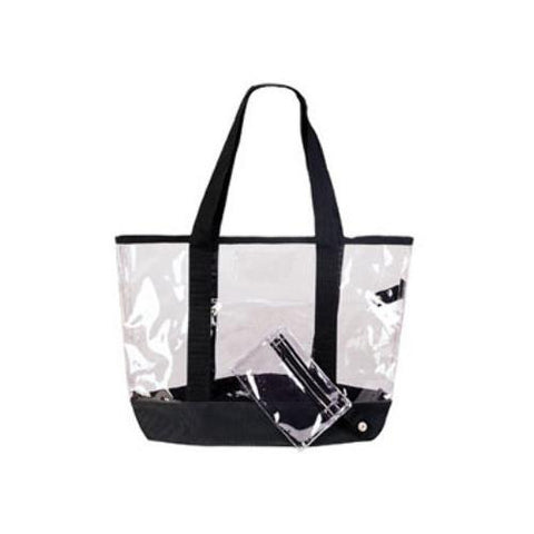 Case of [36] See-Through Clear Tote Bag - Clear