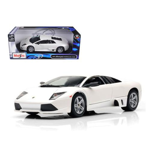 2007 Lamborghini Murcielago LP640 White 1/18 Diecast Model Car by Maisto