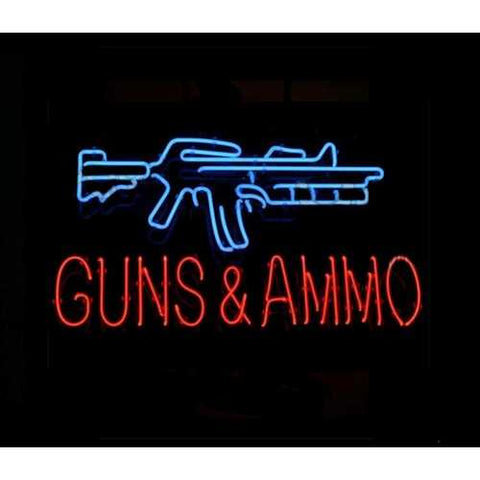 Guns & Ammo Neon Bar Sign