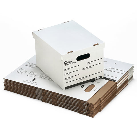 Medium Cardboard Storage File Box Medium Duty, 12ct