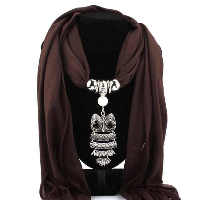 Scarves Owl Pendant Jewelry