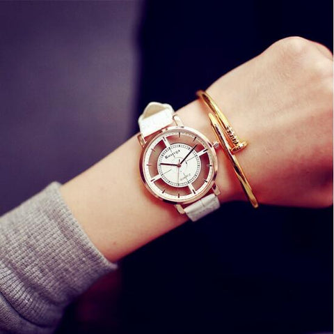 Hollow Skeleton Dress Wristwatch