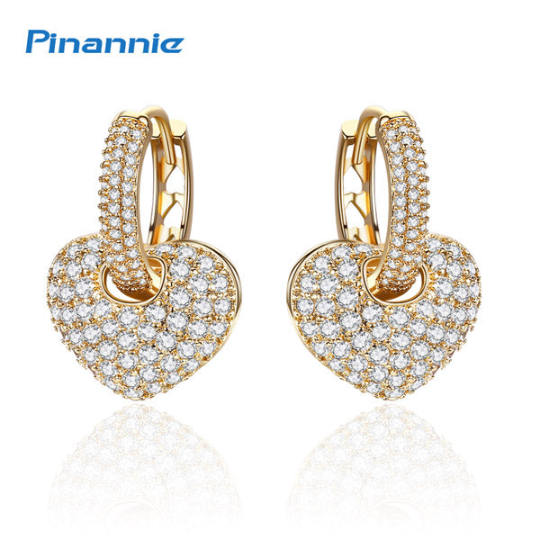 Women Heart Shape Drop Earrings