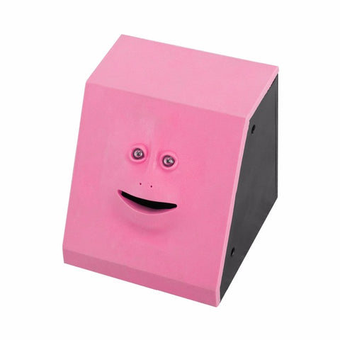 Cute Facebank Money Eating Piggy Bank Box  Toy or Gift  or Home Decoration
