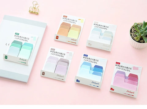 Colorful Sticky Notes Memo Pads Gradient Color Self-Adhesive