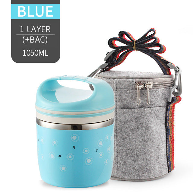Thermal Lunch Box Leak-Proof Stainless Steel Bento Box