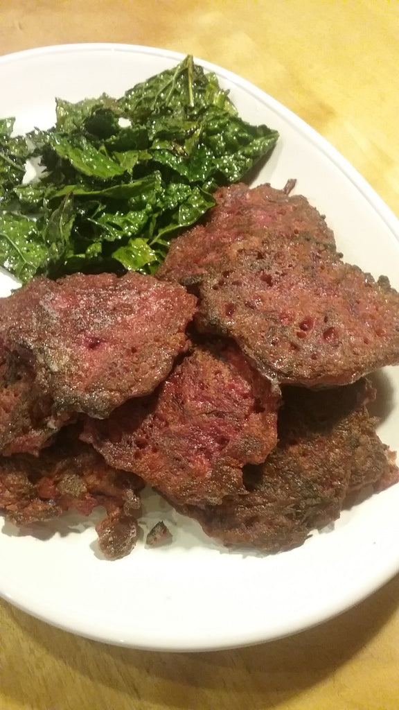 Beet-Bacon Fritters