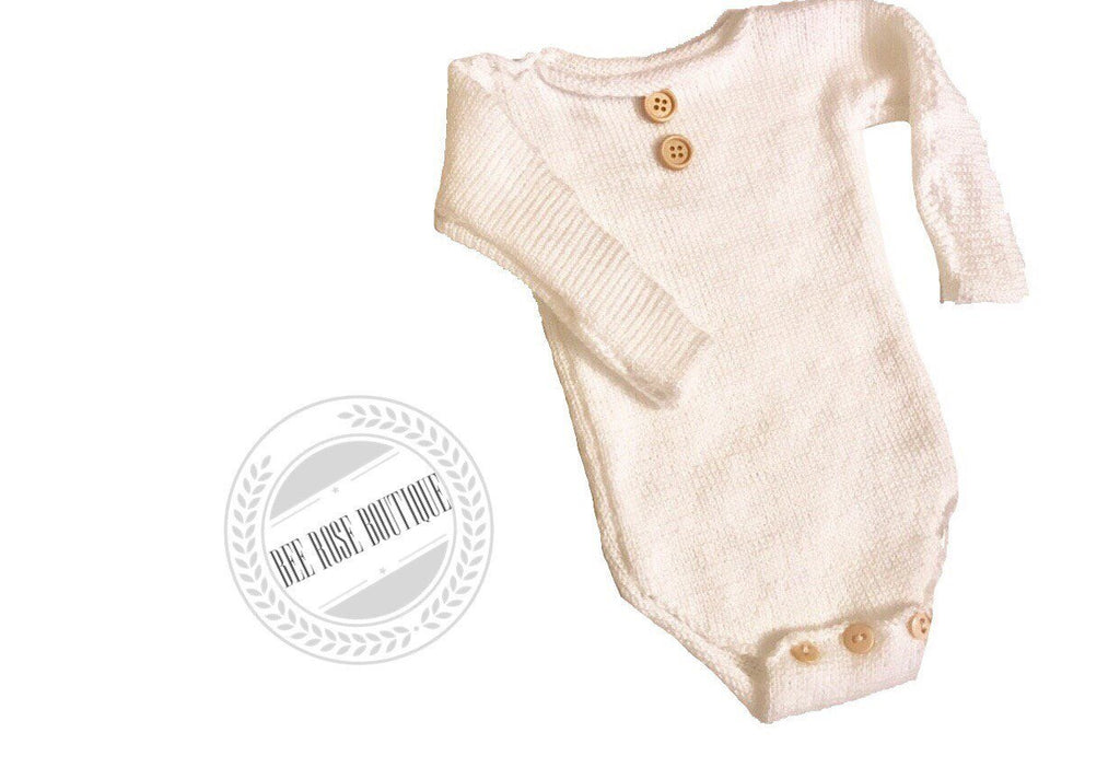 Long Sleeved Button Onesie