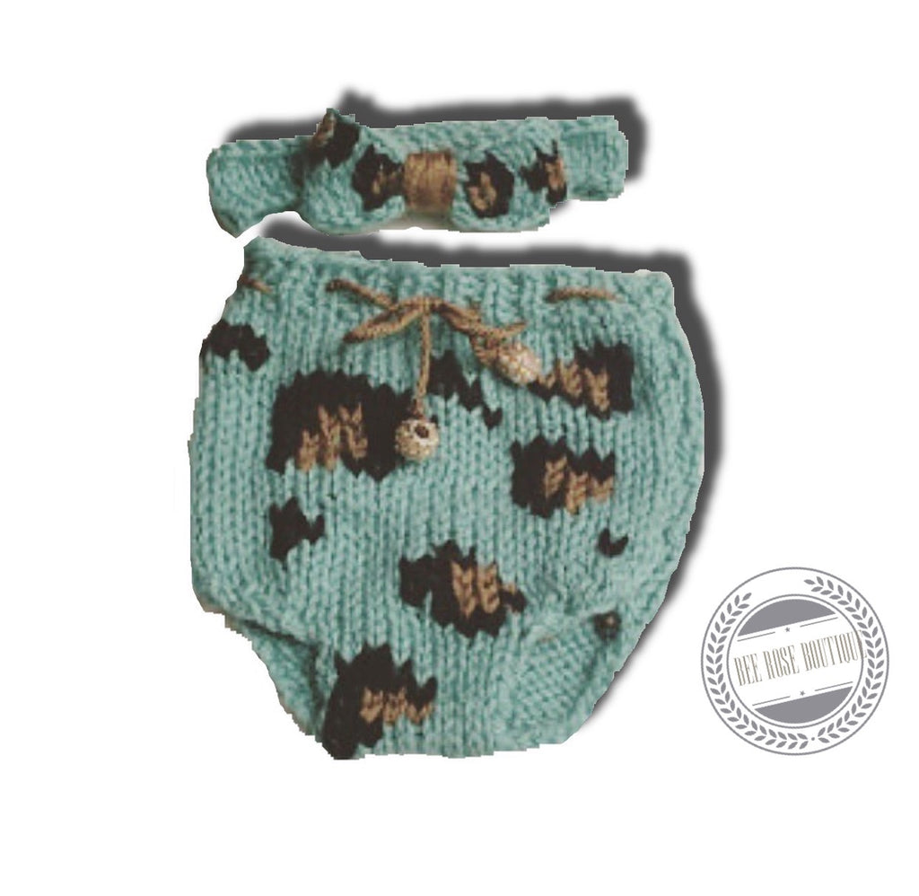 Leopard Diaper Cover Set
