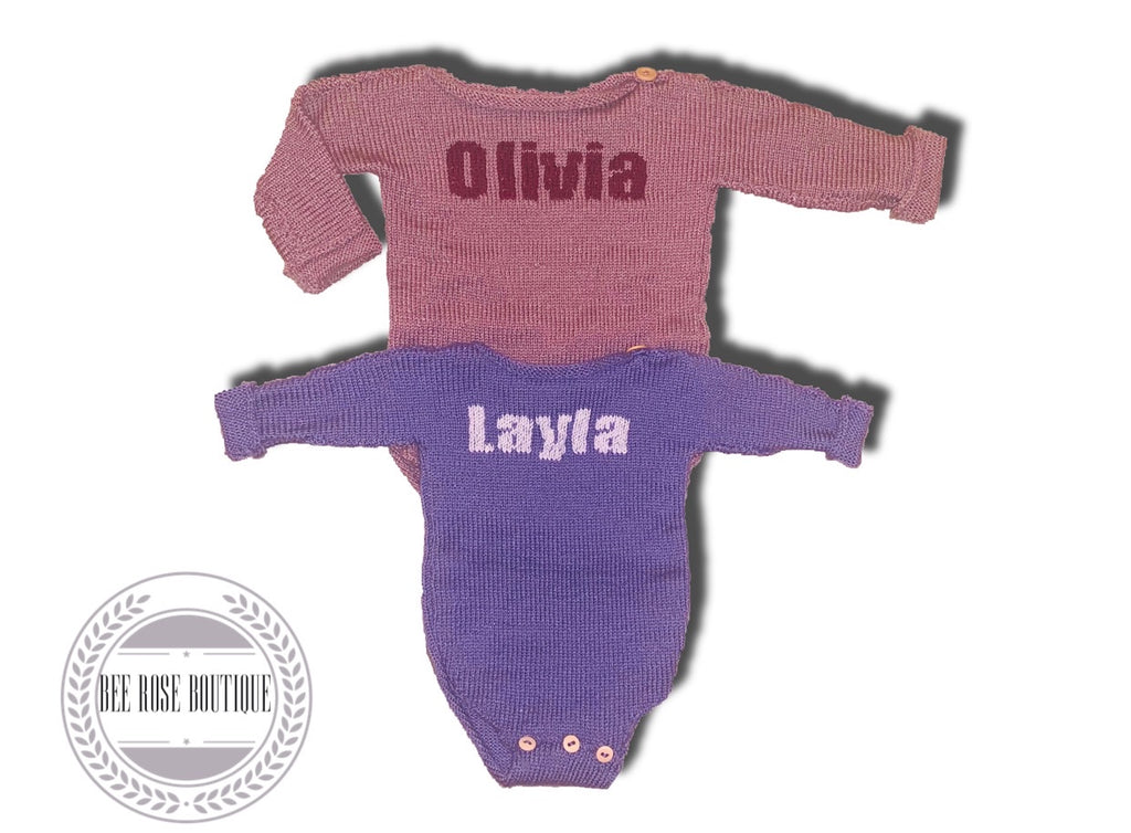 Girl's Solid Custom Onesie