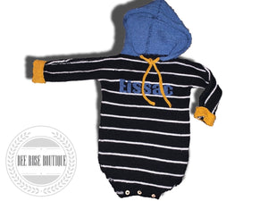 Custom Hooded Onesie - Striped