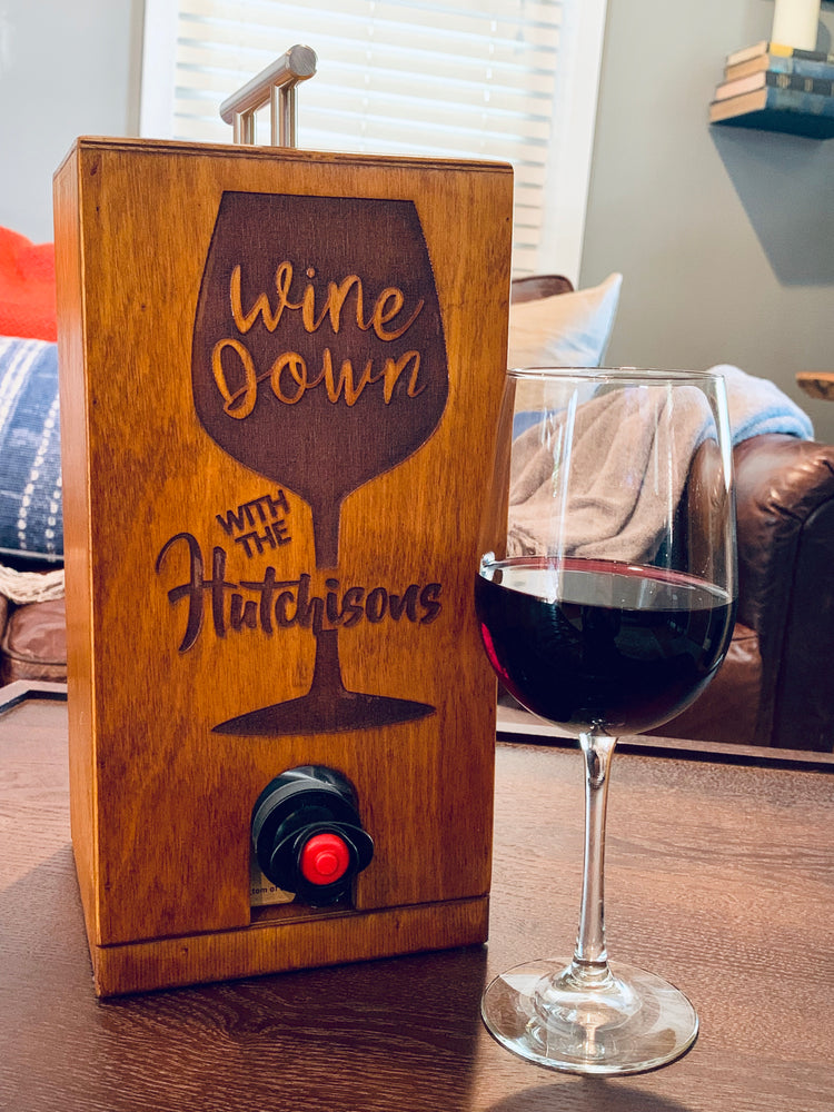 Custom Laser Engraved Vino Chateau