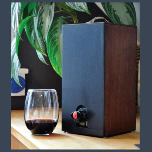 Vino Chateau Boxed Wine Cover with Chalkboard Front Boxed Wine for Black Box, Bota Box or any 3 Liter Boxed Wine.