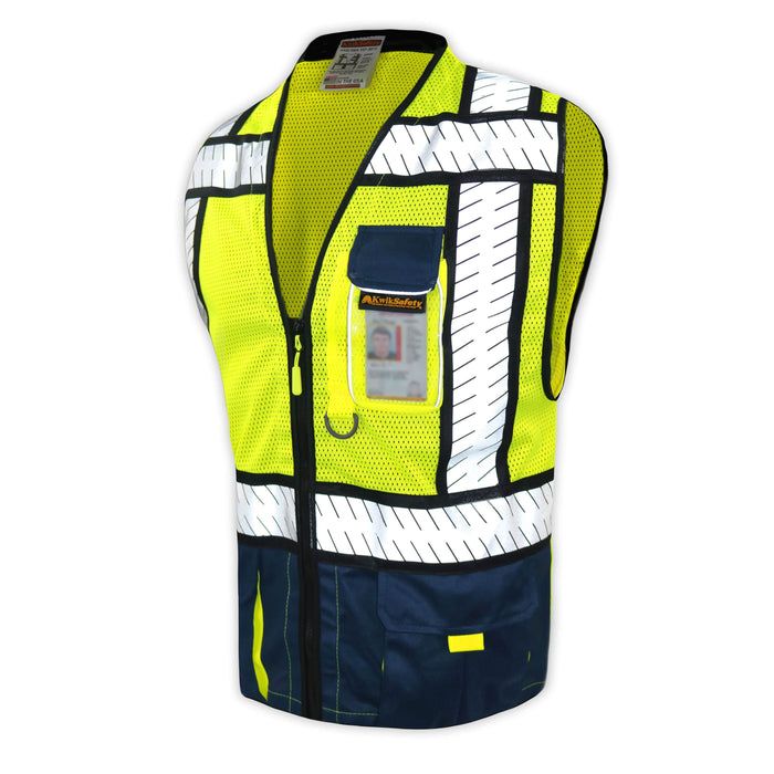 CLEARANCE! KwikSafety SHERIFF | ANSI Class 2 Fishbone Safety Vest (Old Sizing)