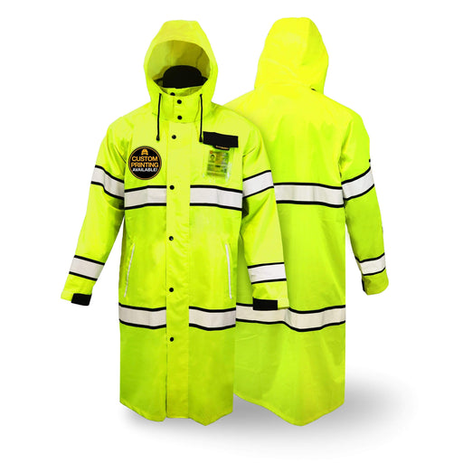 KwikSafety TORRENT | High Visibility ANSI Class 3 Safety Trench Coat - Model No.: KS5506 - KwikSafety