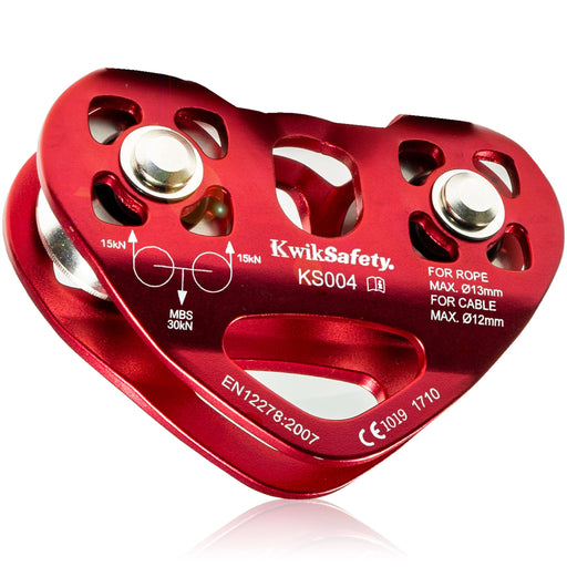 KwikSafety Double Trolley Tandem Pulley 30KN - KwikSafety