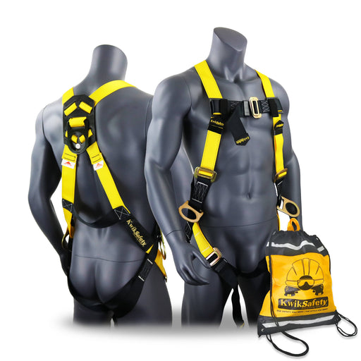 KwikSafety THUNDER Safety Harness OSHA ANSI Fall Protection PPE Construction 3 D Ring - Model No.: KS6602 - KwikSafety