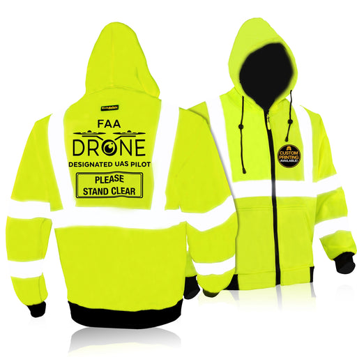 KwikSafety AVIATOR Drone Fleece Hoodie ANSI Class 3 Safety Jacket Anti-Pill - KwikSafety