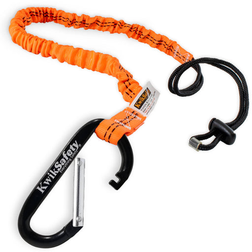 KwikSafety TENTACLE Light Duty Retractable Bungee Tool Lanyard w/ Carabiner Clip - Model No.: KS7901 - KwikSafety