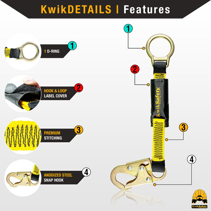 "KwikSafety DOLPHIN DORSAL 18"" D-Ring Extender Fall Protection Equipment - Model No.: KS7721 - KwikSafety"