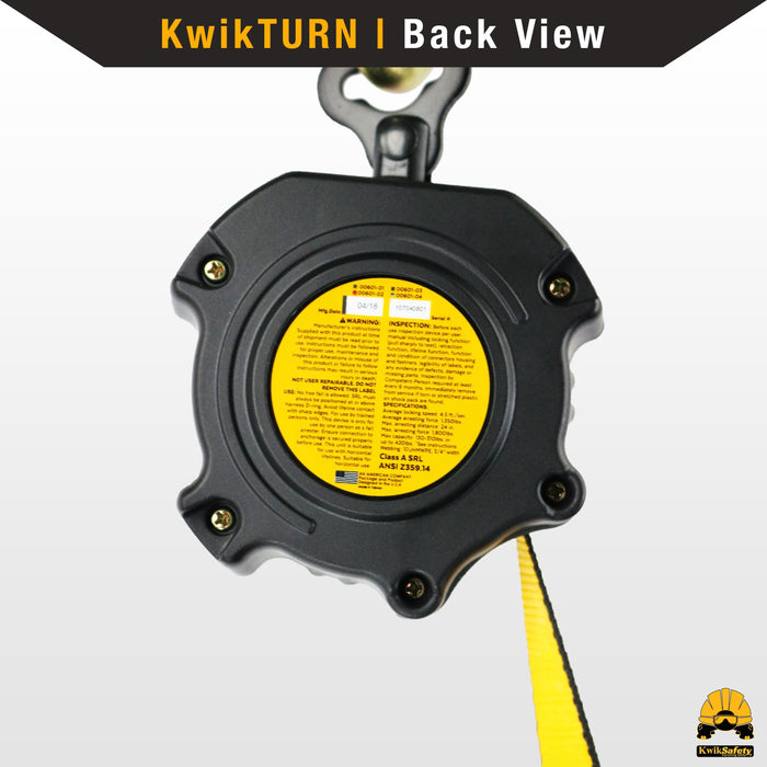KwikSafety 10' COBRA Self Retracting Lifeline ANSI Class B Poly Web SRL - Model No.: KS7912-10 - KwikSafety