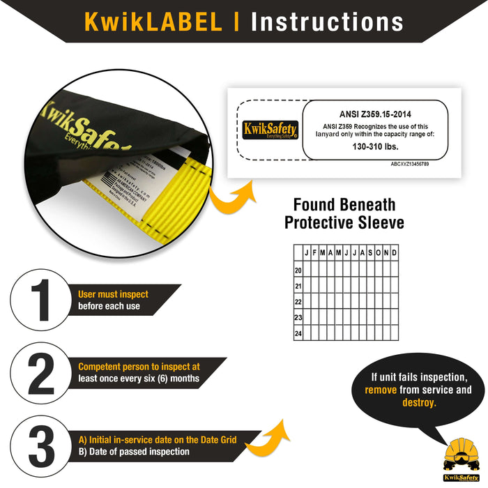KwikSafety TAIPAN Single Leg Flat 6' External Shock Absorber Safety Lanyard - Model No.: KS7705 - KwikSafety