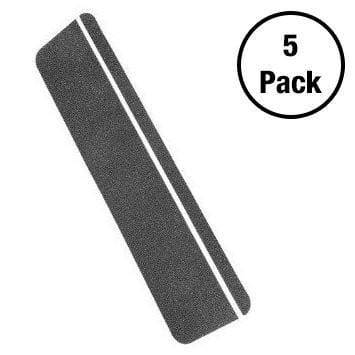 Kwiksafety 6X24 Black Anti Slip Stair Tread Pack 5 / Glow Stripe Home Improvement